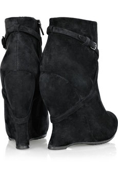 BOTTEGA VENETA - Suede wedge ankle boots - 620
