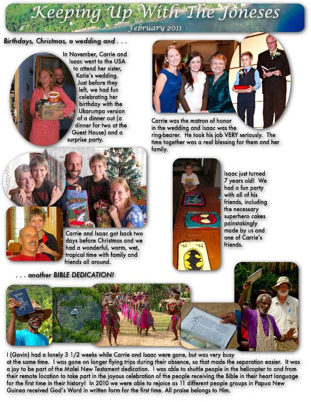 Keeping Up With the Joneses: February 2011 (Page 1)