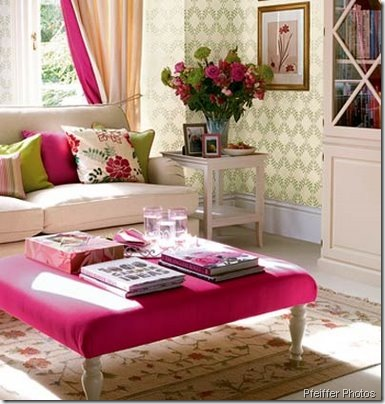 white room pink ottoman pfeiffer photos