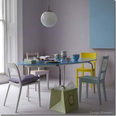 Pastel-dining-room design shimmer