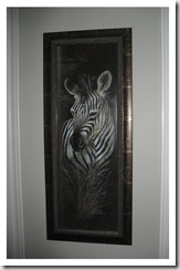 zebra painting close
