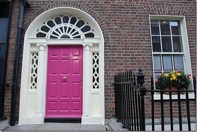 pink irish front door