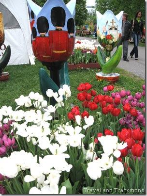 wood tulips