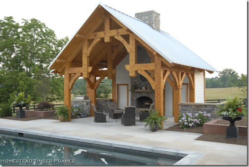pool house homestead timberframes 2