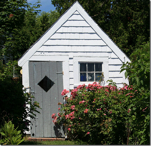 garden shed white flickr