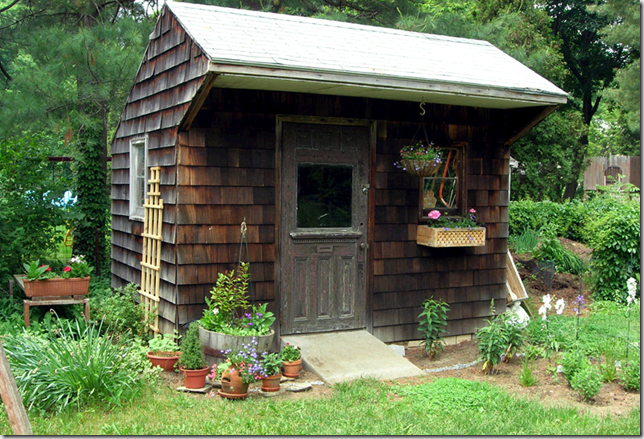 garden shed rustic flickr