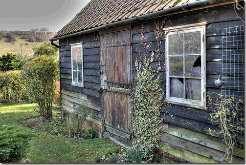 garden shed gray flickr