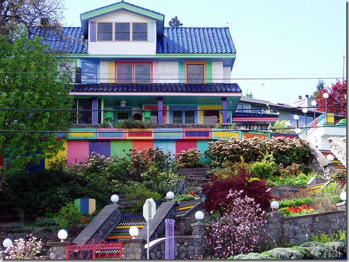 colorful house flickr