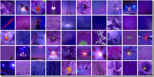 purple mosic