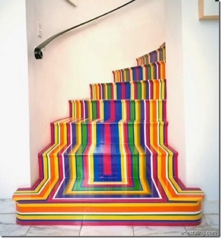 colourful stairs artestyling