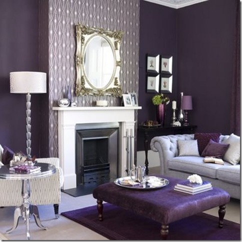 ideal home purple living room
