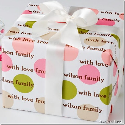 wrapping paper gracious bridal