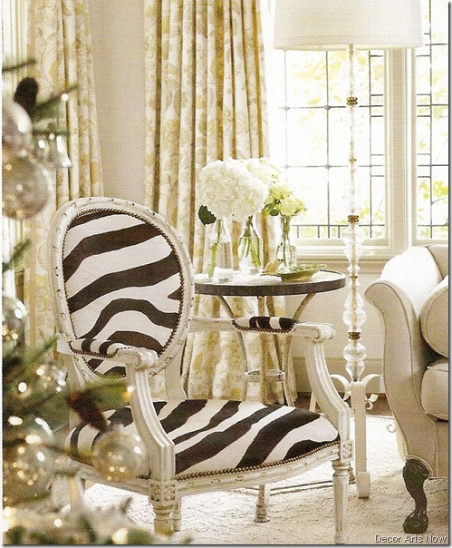 zebra chair decor arts now