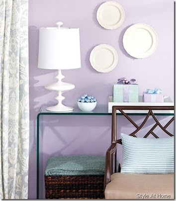 purple wall Style at home