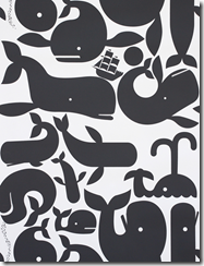 whale wallpaper pottok prints black