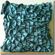 teal cushion thehomecentric