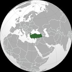 خريطة و تركيا