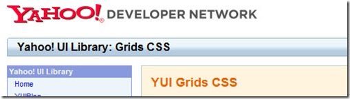 Yahoo YUI Grids CSS | css-framework-5