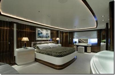 Os  interiores de luxuosos iates 9