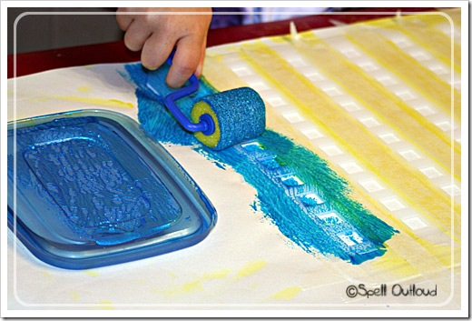 preschool art: more paint