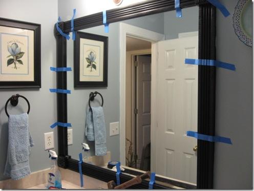 Framing Mirror With Wood And Corner Blocks