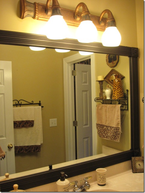 framing mirror with wood and corner blocks