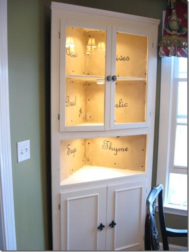 A Corner Cabinet Reborn - Southern Hospitality