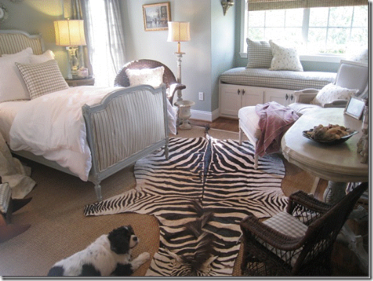 Room with zebra