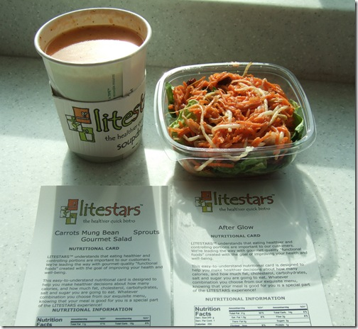 litestars soup salad with menus