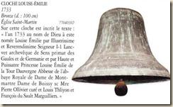 cloche Louise Emilie BoissyAuxCailles