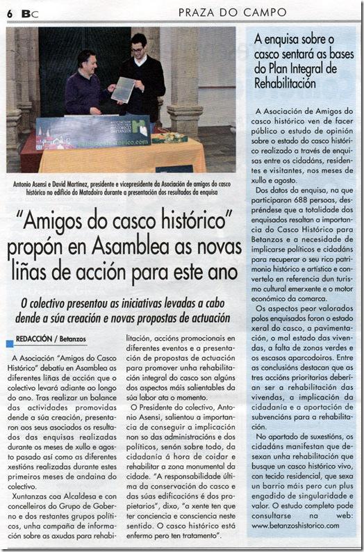 """Recorte de """"Betanzos e a súa comarca"""" correspondente a marzo de 2010"""