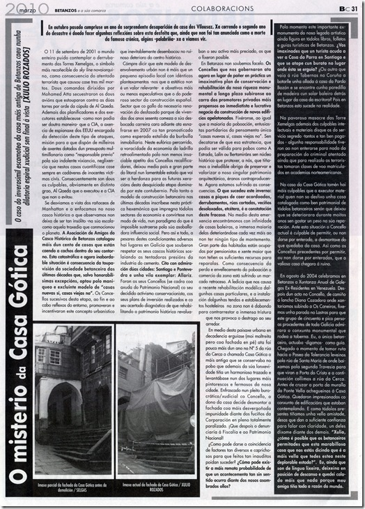O misterio da Casa Gótica - Xulio Rozados