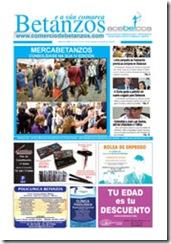 Portada do xornal  Betanzos e a súa comarca, correspondente ao mes de outubro