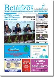 Portada do xornal Betanzos e a súa Comarca, correspondente ao mes de decembro de 2009