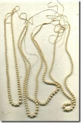 4 Strands Vintage Pearls