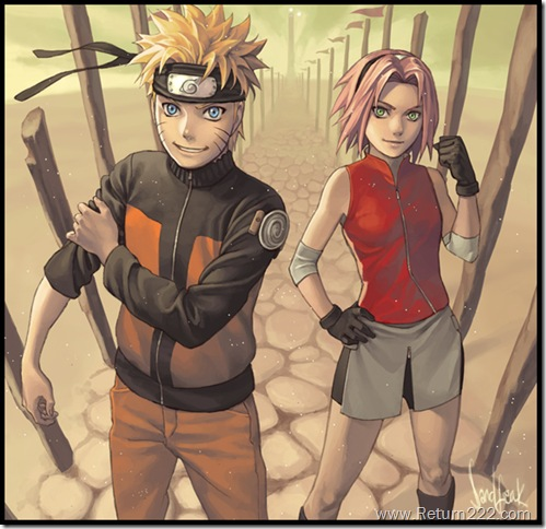 Naruto_and_Sakura_by_Sandfreak