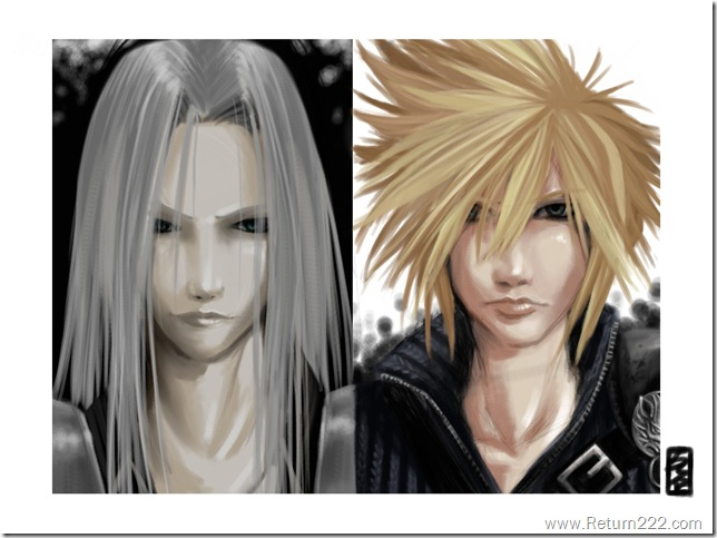 ff_fanart_cloud__sephiroth_by_Kioku_san