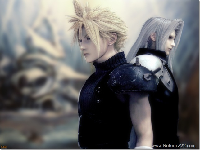 Konachan.com - 15168 cloud_strife final_fantasy final_fantasy_vii final_fantasy_vii_advent_children sephiroth