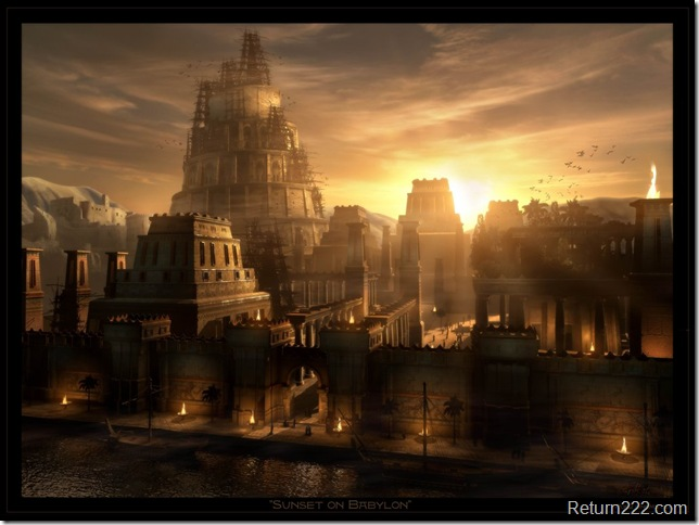 Sunset_on_Babylon_by_Raphael_Lacoste