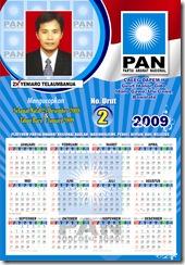 "Share the post ""Contoh Desain Kalender 2009 Caleg DPR DPRD"""