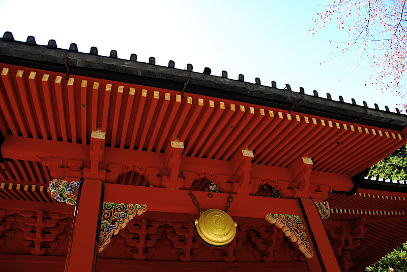 A close-up of a building in the Rinnoji Temple group