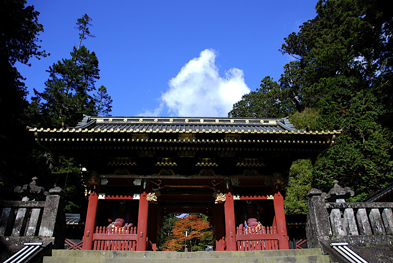 A gate to Rinnoji Temple area