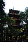 Five Story Pagoda (36m high) near Ishidorii Gate in Nikko Japan