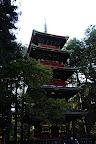 Five Story Pagoda (36m high) near Ishidorii Gate in Nikko Japan