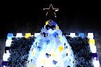 A pyramid of Christmas presents at Roppongi Hills