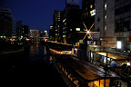 From a bridge over the Kanda River, the candles merely added a small string of light to an already pleasant view.