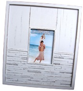 Recycled frame whitewashed wood