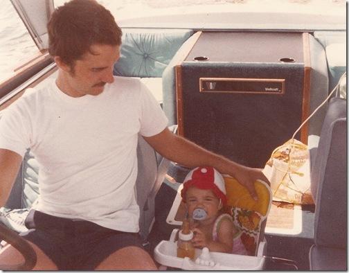 Dad and me on Mi-Sue-Deb May 1979