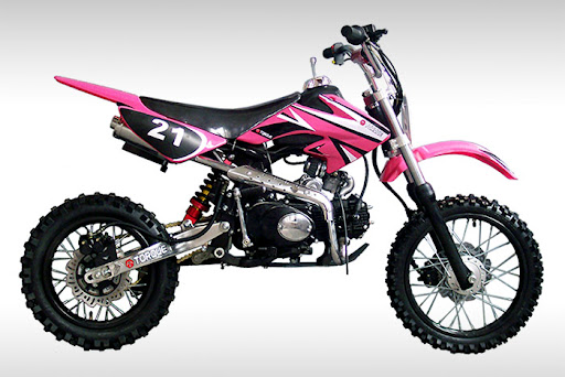 Pink 125cc Mini Pit Bike Dirt