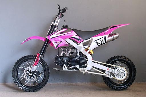 Pink Dirt Bike